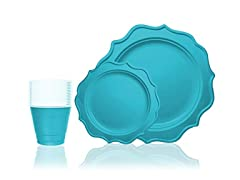 Tiger Chef Tiger Chef 144-Pack Turquoise Color Roun