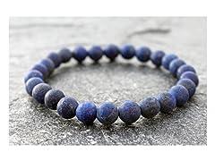 Genuine Blue Lapis Stretch Bracelet