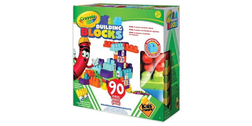 Best Crayola Toys For Kids : Crayola building blocks set pieces kids toys