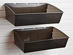 Flow Wall Jumbo Hard Bins 2-Pack, Black