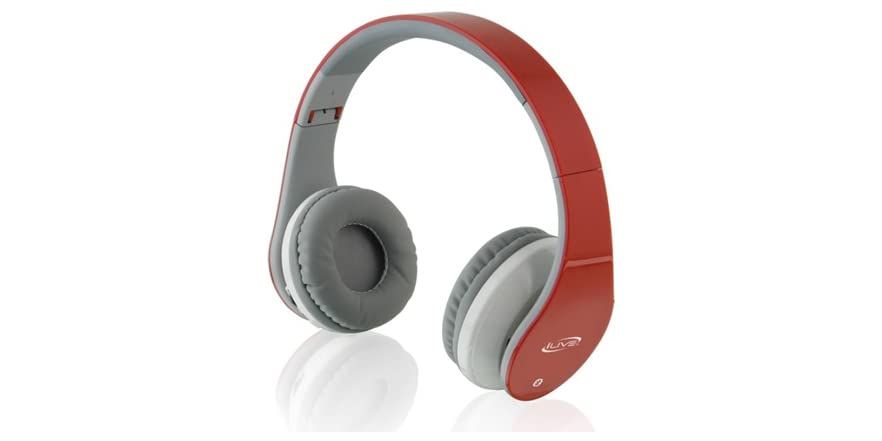 ilive stereo bluetooth headphones red. Black Bedroom Furniture Sets. Home Design Ideas
