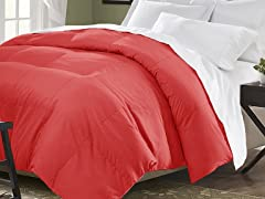 Down Blend Comforter-Red-3 Sizes