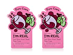 I'm Real Red Wine Mask Sheet - Pore Care - Twin Pack
