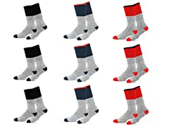 Men's Thermal Cold Weather Crew Socks - 9 Pairs