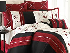 8pc Comforter Set - Neru - 3 Sizes