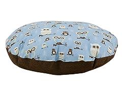 """Hooty Mist Putty  36"""" Round Pet Bed"""