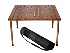 Large Wood Portable Table, Brown