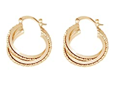 18k Plated Hoop Earring