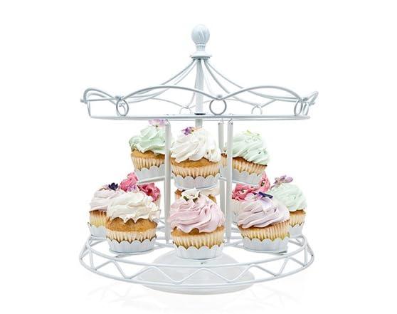 White Cupcake Carousel Holder