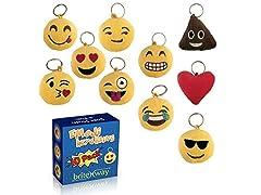 Emoji Keychain Round Faces, Set of 10