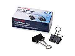 Officemate Small Binder Clips, Black, 12