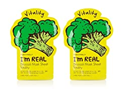 I'm Real Broccoli Mask Sheet - Twin Pack