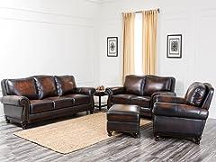 Victoria Leather 4-Pc Set