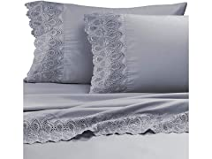 Auraa Smart 600 TC Lace 4 Pc Sheet Set