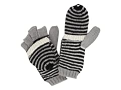 Jessica Simpson Stripe Pop Top Glove,Blk