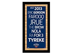"New Orleans Pelicans 9.5"" x 19"" Sign"
