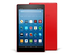 """Amazon Fire HD 8"""" 2017 16GB Tablet, Red"""