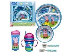 Zak Designs Peppa Pig 6 pc Dinnerware Set