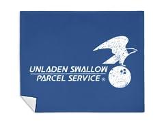"""""""Unladen Swallow Parcel Service"""" Blanket"""