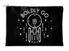 """""""Minimal Boldly Go"""" Accessory Pouch"""