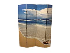 4 Panel Seashell by The Seashore Room Divider