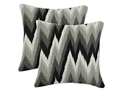 Coram Ebony Fiber Pillow: Set of 2