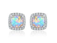 18k Gold Plated Opal Stud Earrings