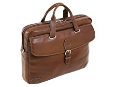 "Como Leather Medium 15.4"" Laptop Brief"