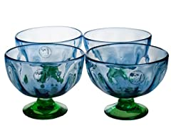 Amici Luster Blue Dessert Bowls Set of 4