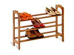 Honey-Can-Do 2 Shelf Bamboo Shoe Rack