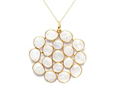 18k Gold Plated SS Moonstone Necklace