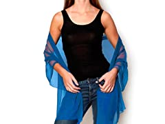 Kitara Silky Chiffon Wrap, French Blue