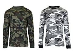 Men's 2-Pack L/S Camo Printed Tee
