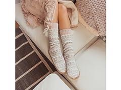 MUK LUKS Women's Slipper Socks Tassels