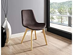 Suede Side Chairs - Brown