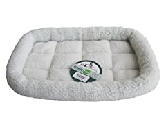 Synthetic Sheepskin Handy Bed-White