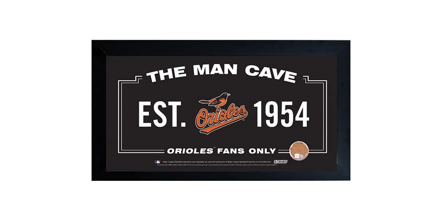 Man Cave Electronics : Framed man cave sign w game dirt