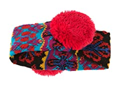 Girls Flower Fairisle Headband Earmuffs