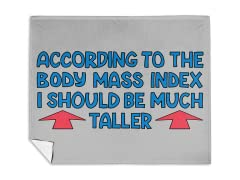 """BMI Index"" Mink Fleece Blanket"