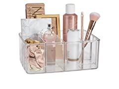STORi Clear Plastic Vanity Organizer | 5-Compartments