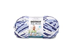 Bernat Baby Blanket Big Ball Yarn Blue