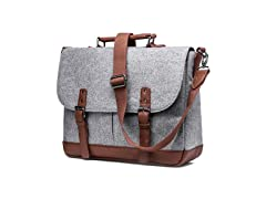 Wool Messenger Bag with Laptop Pocket