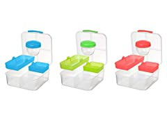 3- Pack Lunch Plastic Container Set