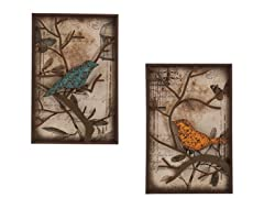 Bird 2pc Wall Panel Set