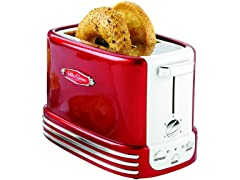 Retro 2-Slice Bagel Toaster (Red)