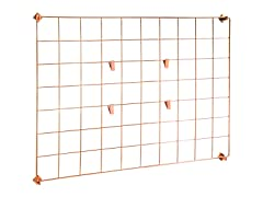 Honey-Can-Do Copper Grid Wall