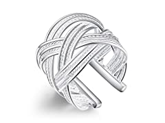 Sterling Silver Interwoven Ring