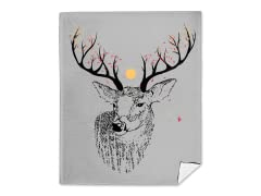 Oh Deer It's Autumn Mink Fleece Blanket