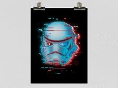 """""""Glitch Trooper"""" Matte Poster"""