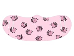 """Pink Piggies"" Face Mask - General Use"